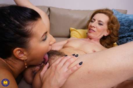 Hairy Mature Slut Getting Licked By A Naughty Lesbian Teen