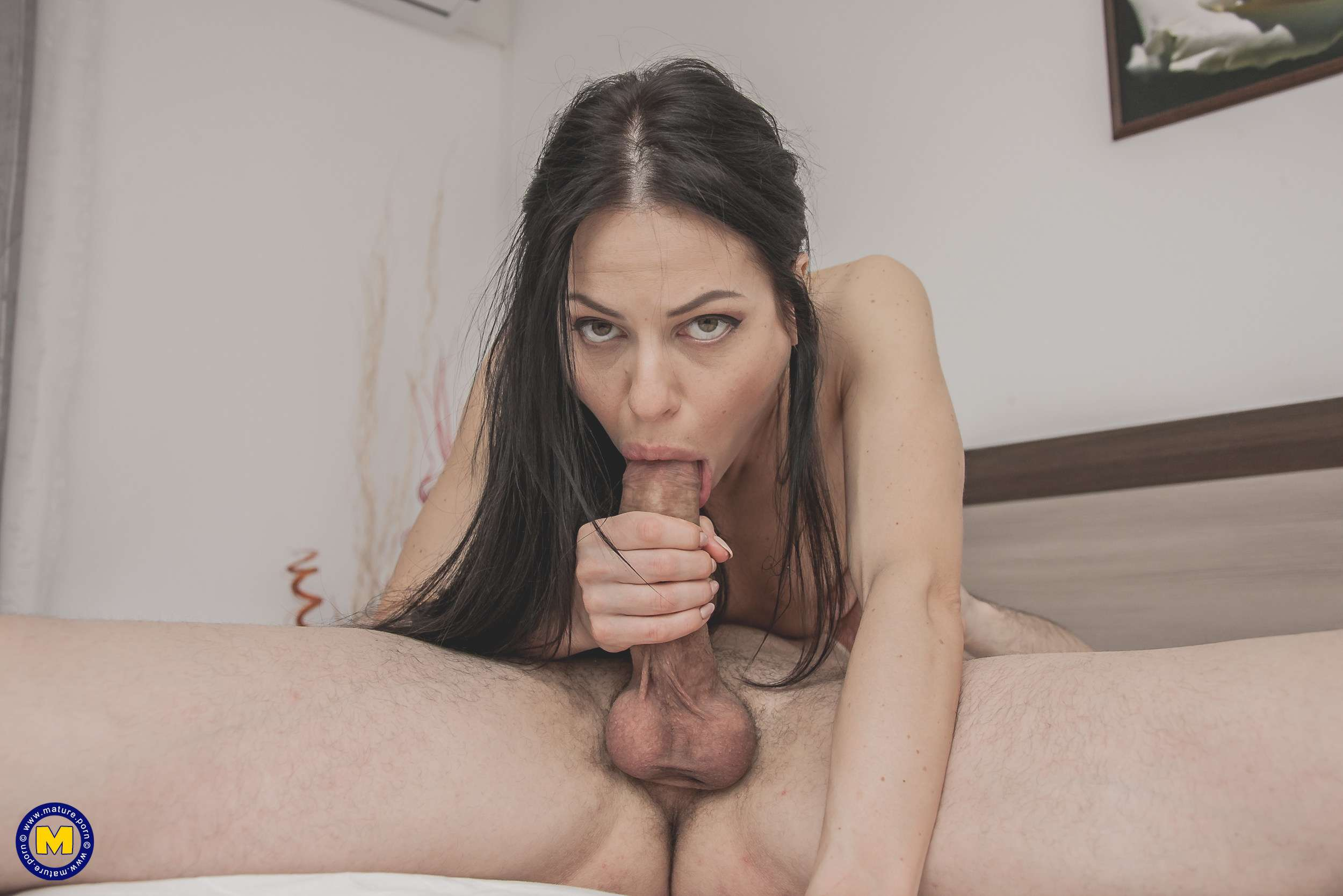 Horny mom getting a big hard cock up her ass