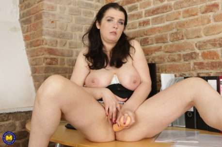 Big Breasted Housewife Is Getting Naughty At The Office
