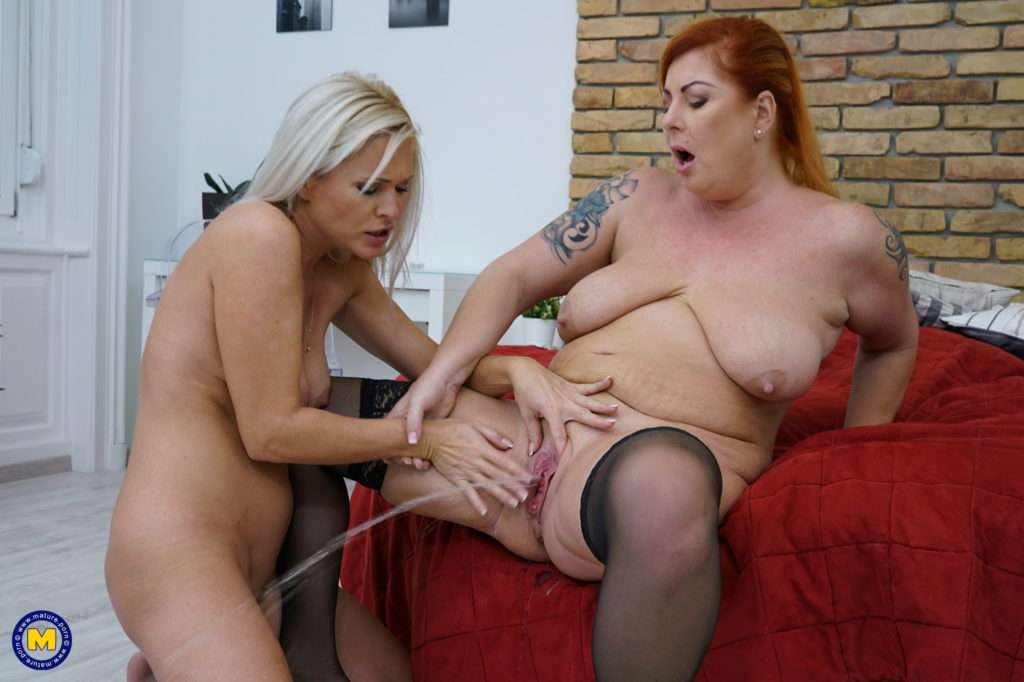 These Naughty Housewives Love To Get Their Lesbian Groove On At Mature.nl
