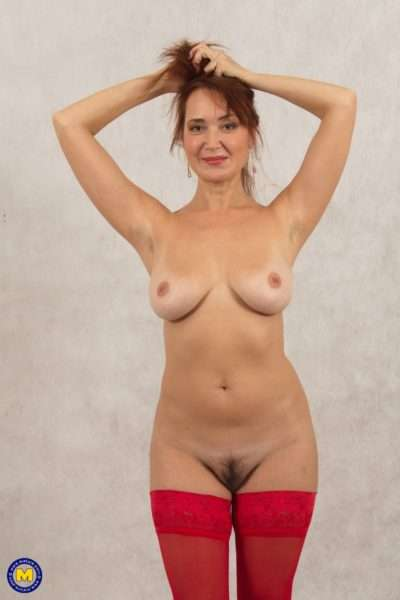 Naughty Unshaved Housewife Playing With Herself