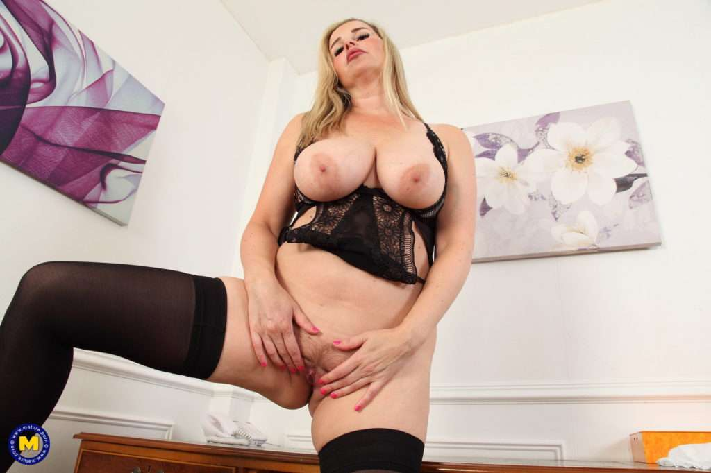 Hot And Naughty Temptress Playing With Herself From Mature.nl