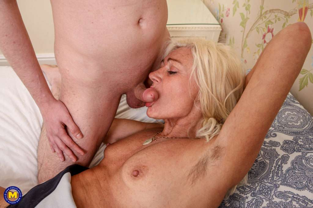 Horny Hairy Cougar Sucking And Fucking Her Toy Boy At Mature.nl