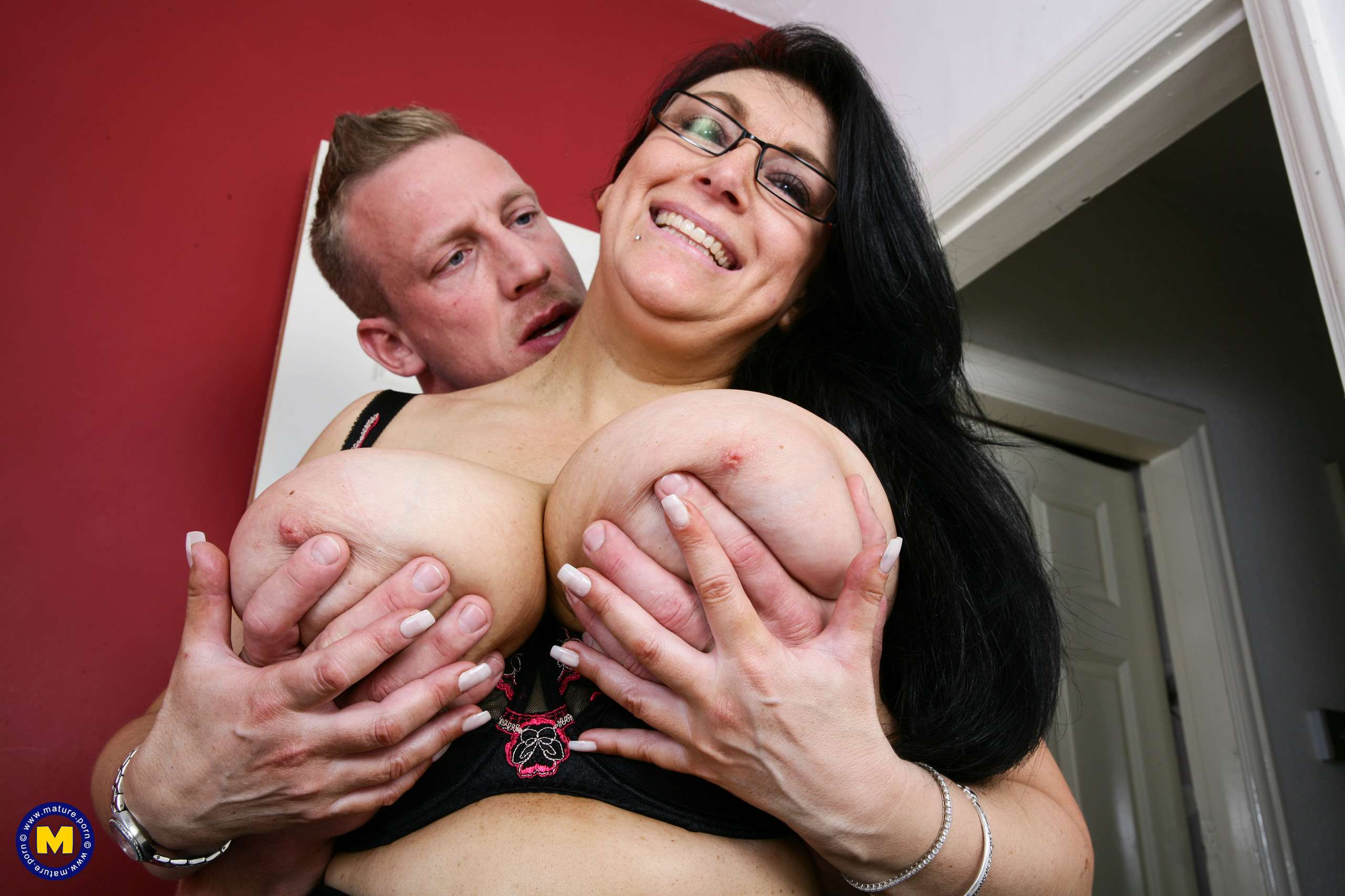 Big breasted British housewife fooling around with the guy next door