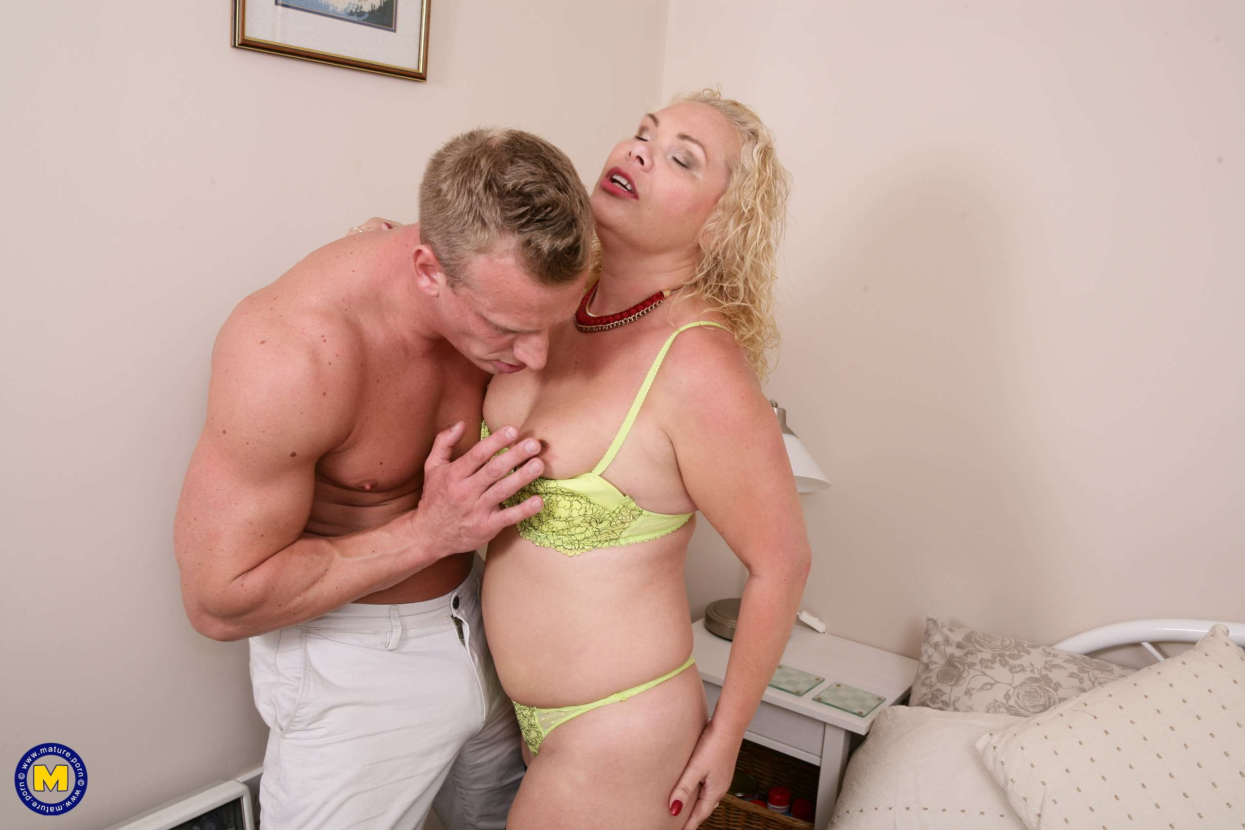 Horny British housewife fucking and sucking her lover