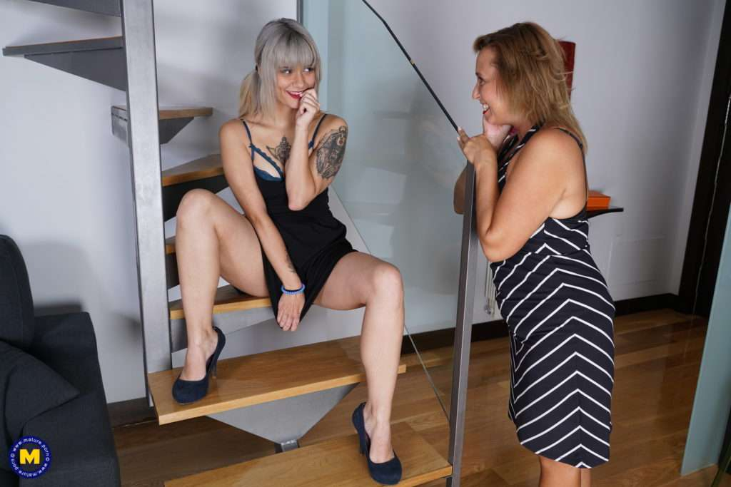 These Spanish Old And Young Lesbians Make Out And Then Some At Mature.nl
