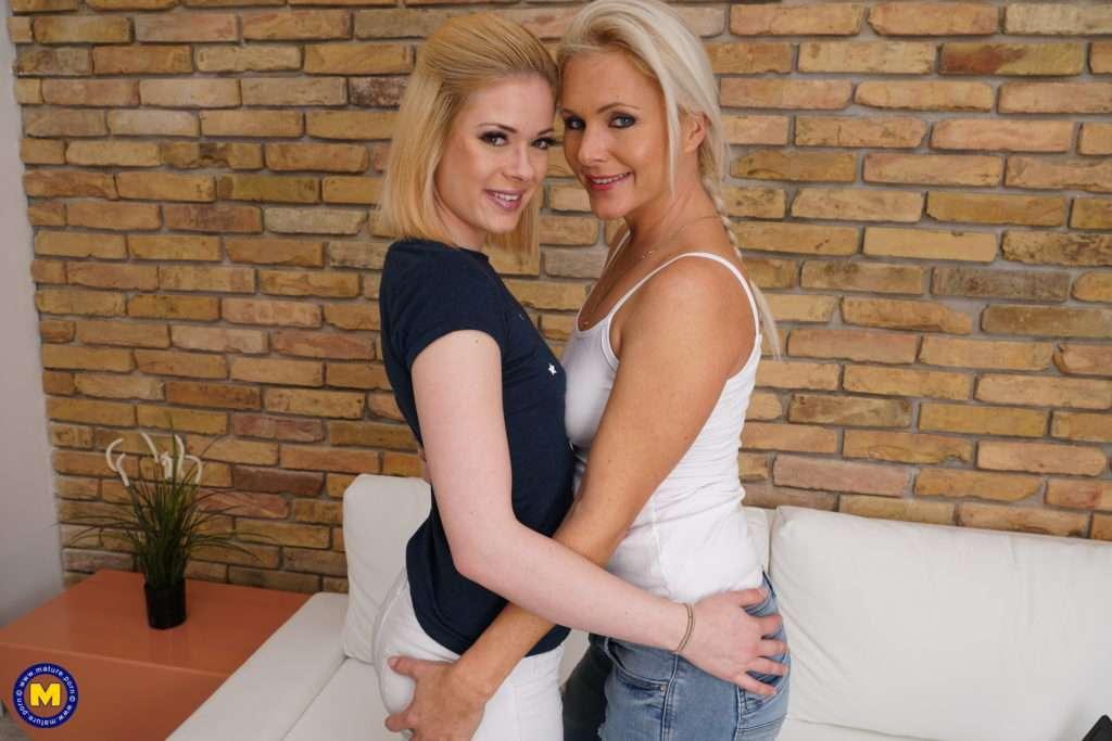 Hot Milf Seducing A Naughty Lesbian Teeny Babe At Mature.nl