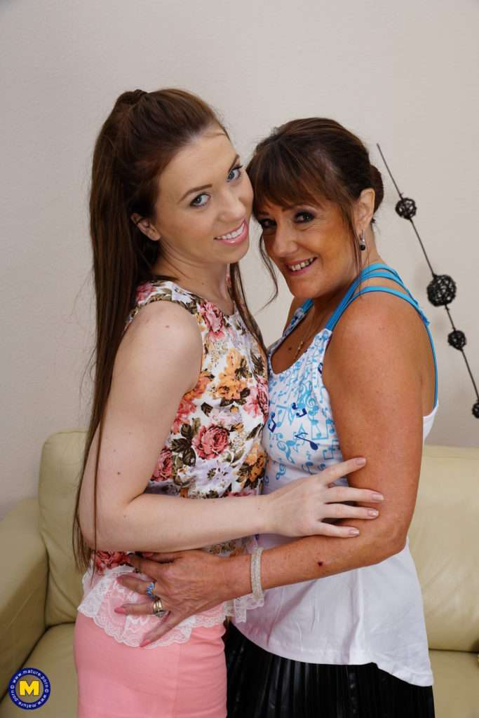 Horny Old And Young Lesbians Fool Around With A Strapon At Mature.nl