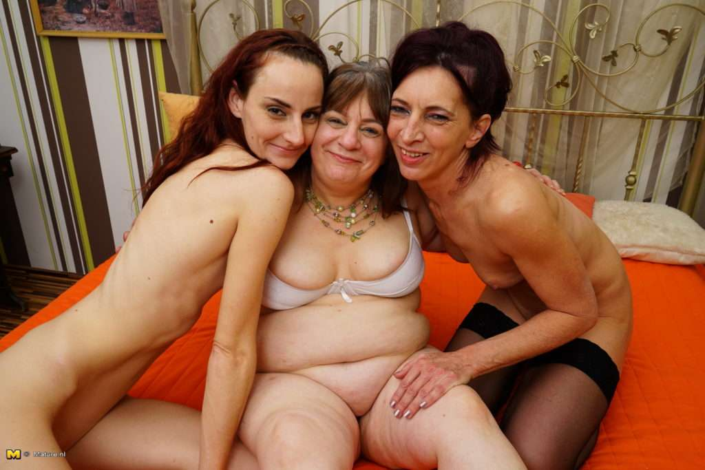 Three Mature Ladies Explore Their Lesbian Feelings At Mature.nl