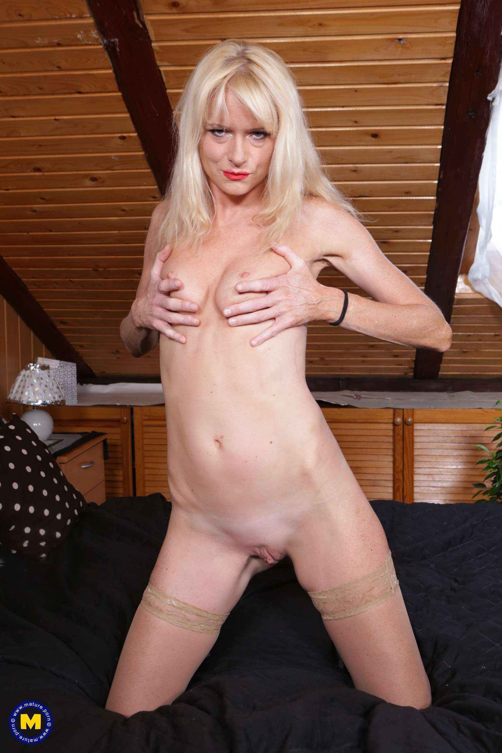 Blonde Milf Glasses Solo