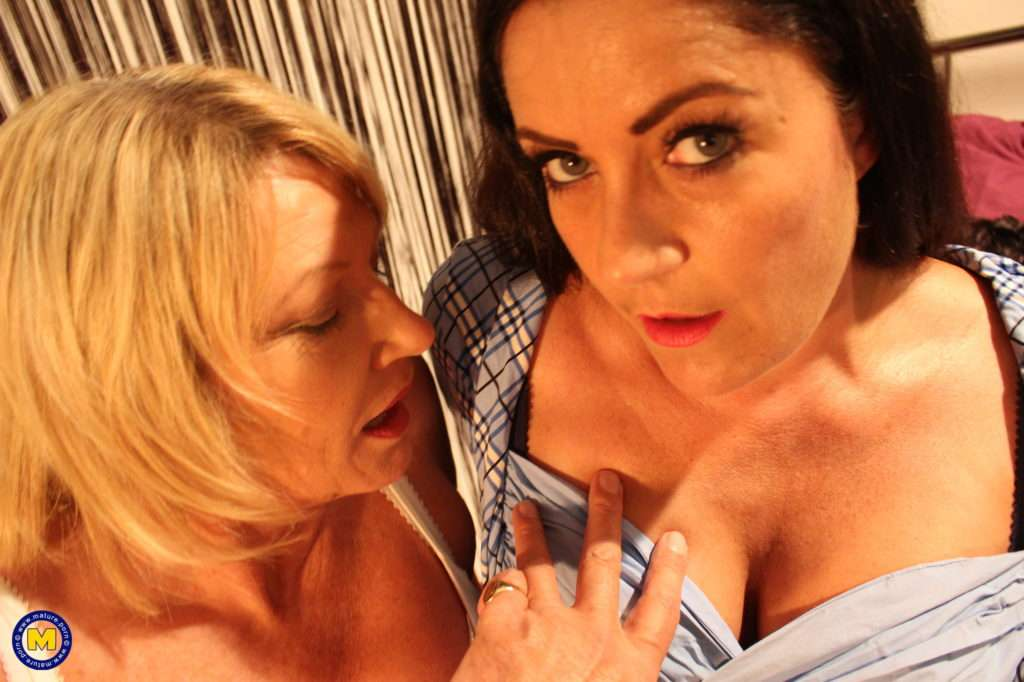 Two British Bisexual Housewives Share One Cock At Mature.nl