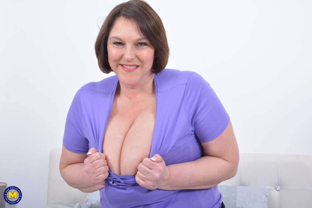 Check Out Those Huge Breasts From Naughty Housewife Carol Brown At Mature.nl