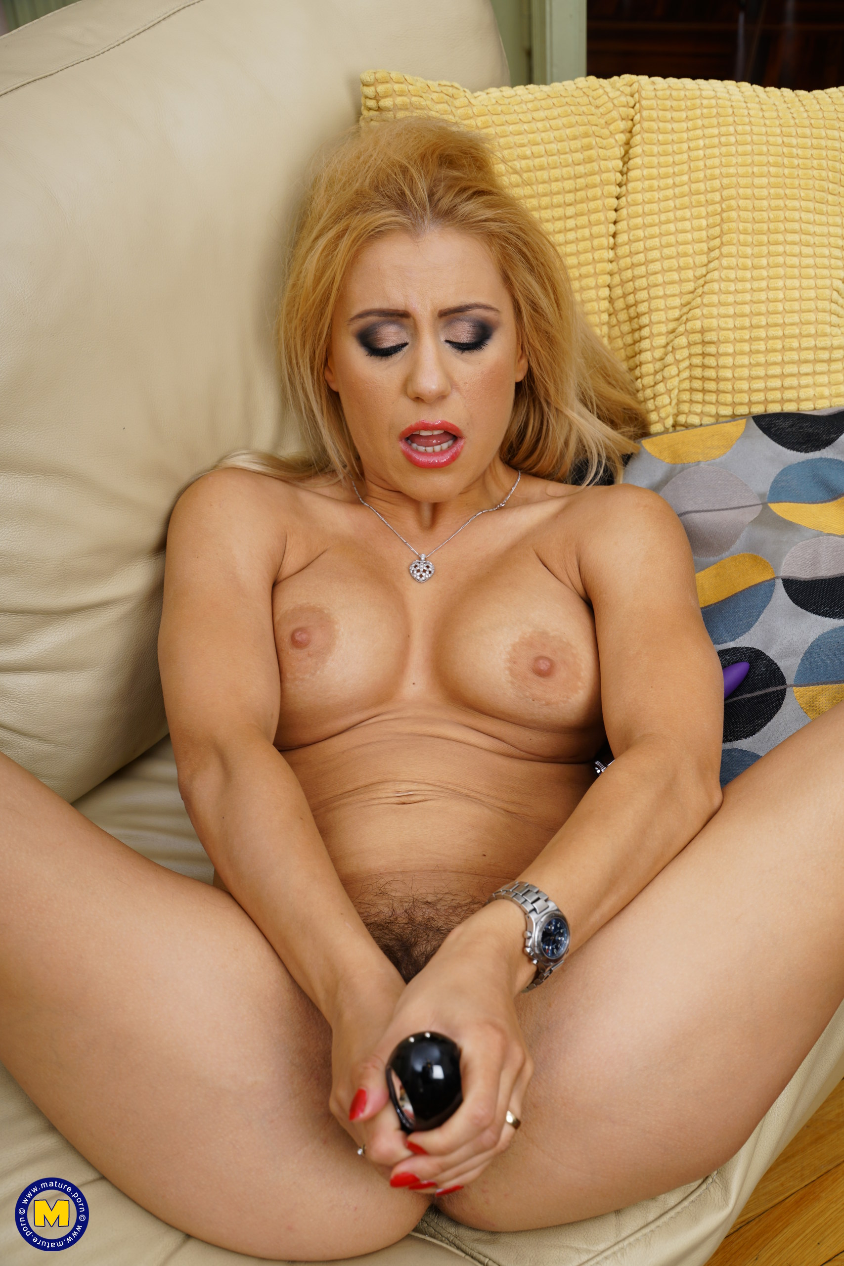 Hot Steamy Mom Nadina Playing With Her Unshaved Pussy At Mature.nl