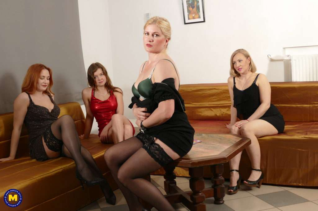 Four Old And Young Lesbians Making It Big At Mature.nl