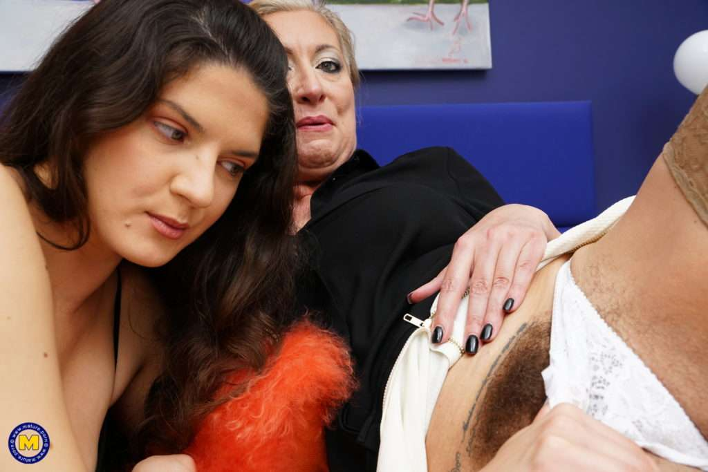 These Hairy Old And Young Lesbians Make Out And Then Some At Mature.nl