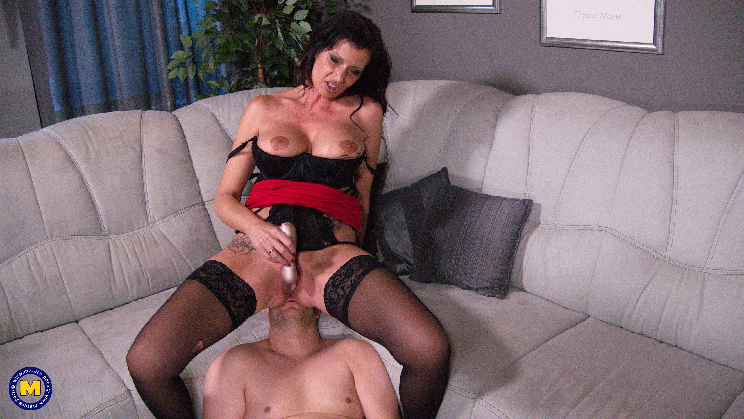 German mistress Dacada suffocates her man with her pussy and fucks him with a strapon
