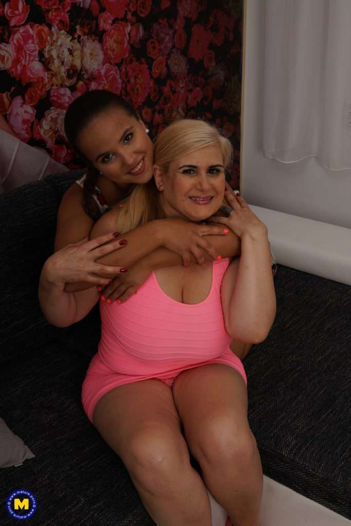 Naughty Old And Young Lesbians Making Out On The Couch At Mature.nl