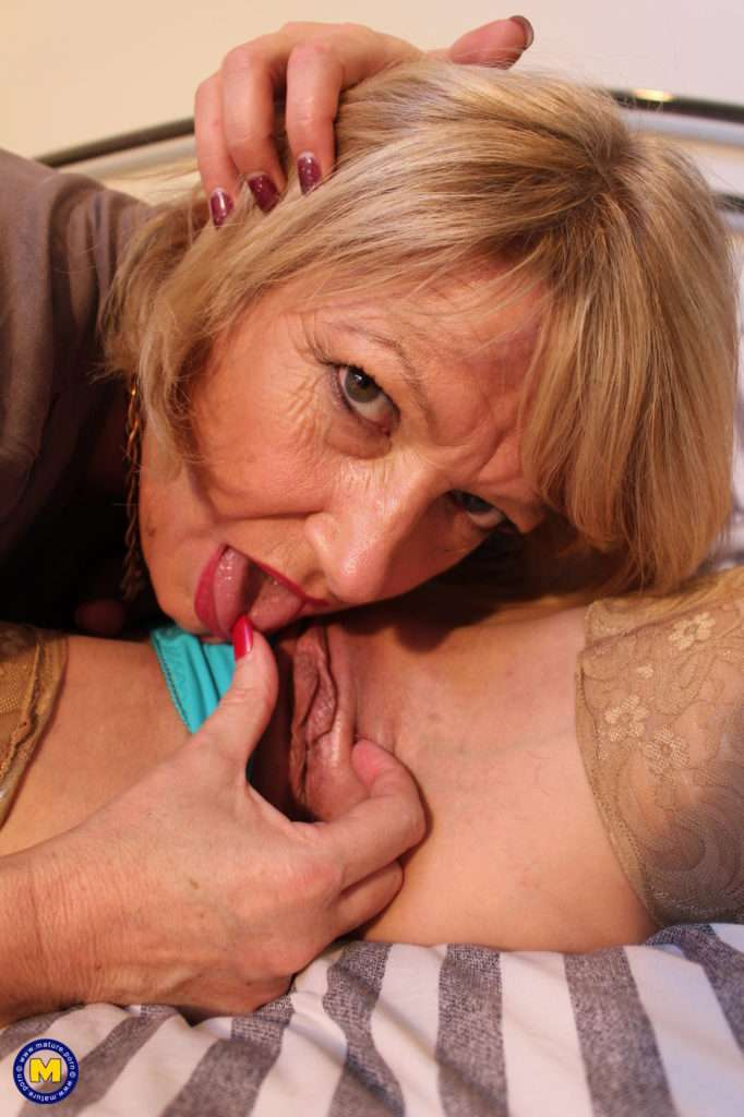 Two Naughty British Housewives Playing With Eachother At Mature.nl