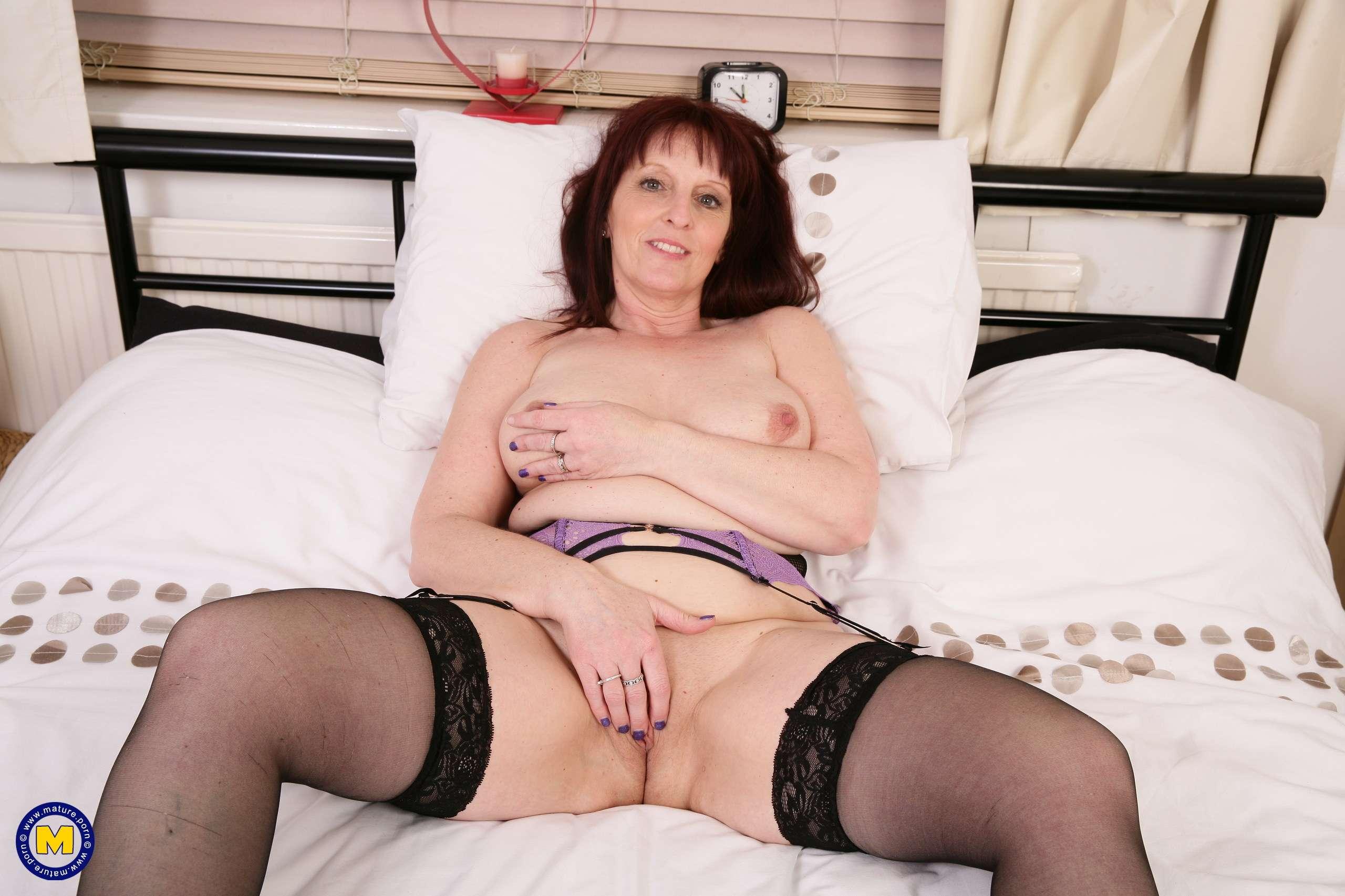 Mature lingerie striptease