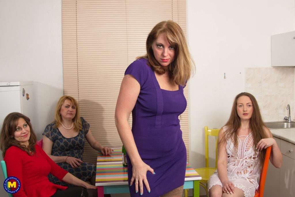 Four Horny Housewives Go All The Way At Mature.nl