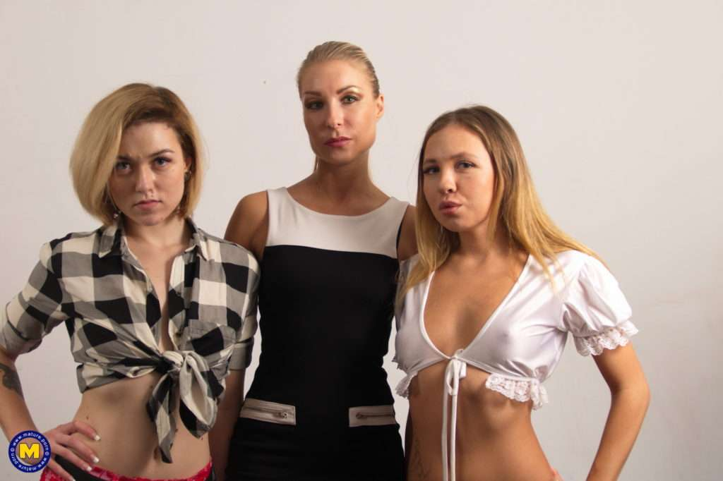Three Old And Young Lesbians Making It Big With Strapons At Mature.nl
