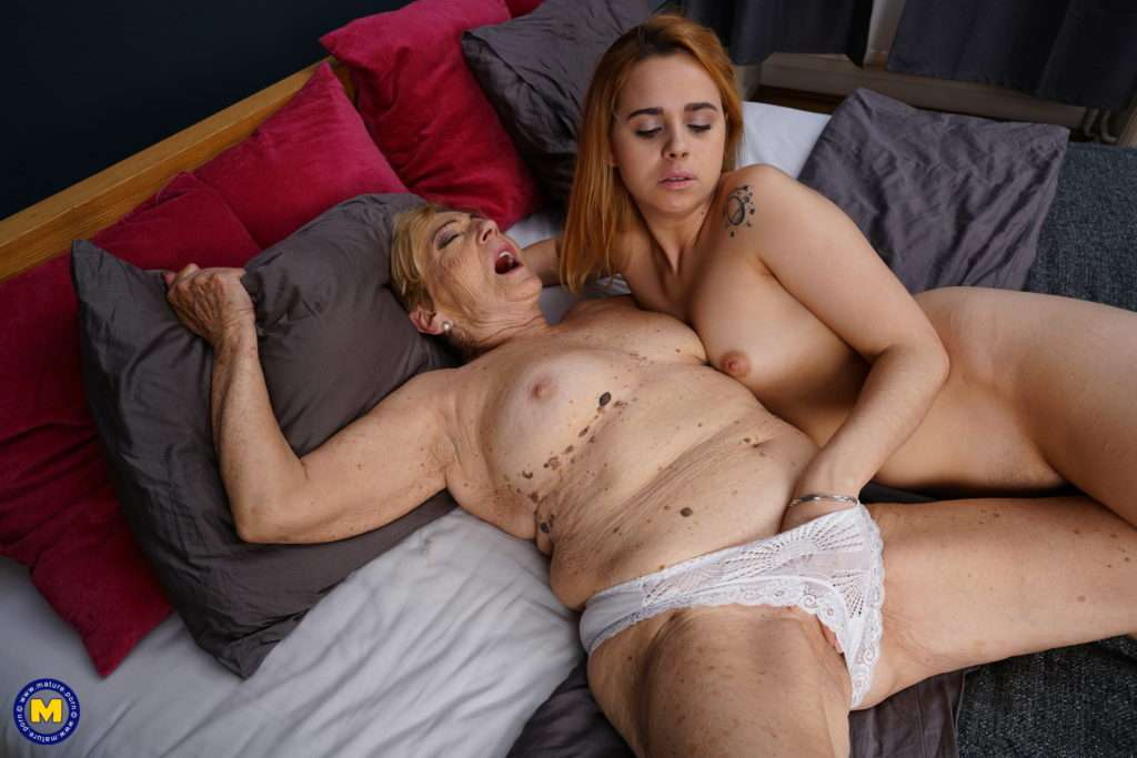 Hot Young Lesbian Babe Getting Wild With A Hairy Mature Lady At Mature.nl