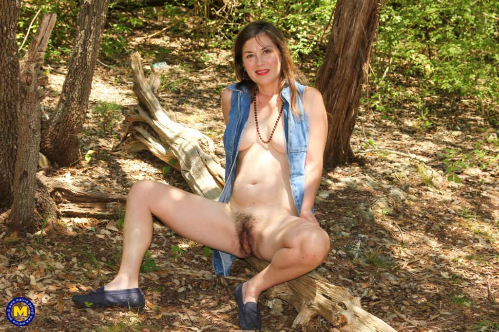 Hairy Mom Playing With Herself In A Public Forest At Mature.nl