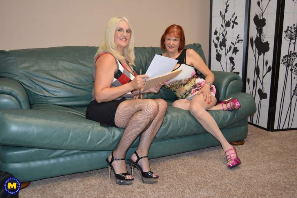 Two Mature American Lesbians Make It Big At Mature.nl