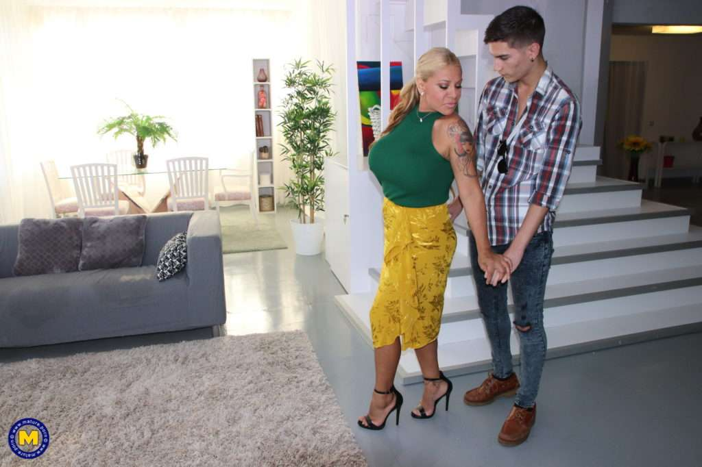 Big Breasted Temptress Getting Herself A Young Gigolo At Mature.nl
