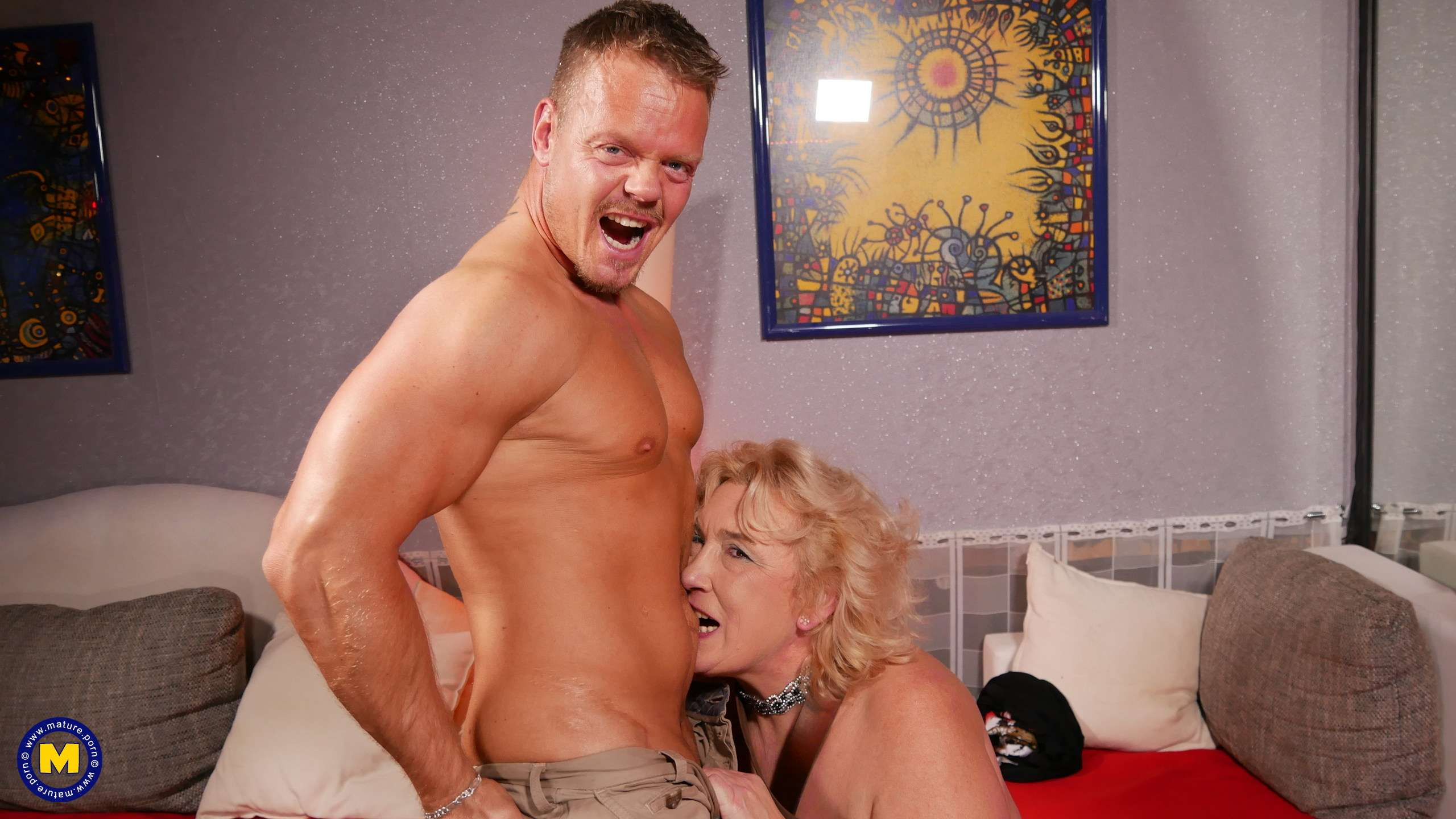 This German grandma has loads of fun with her muscled toy boy