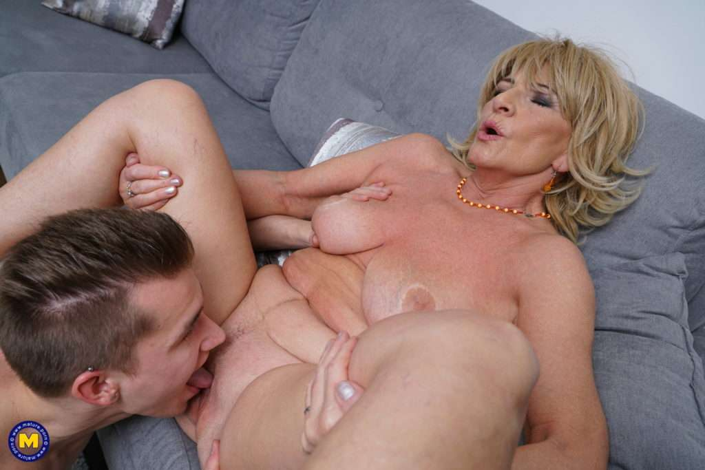 Naughty Mature Lady Enjoying The Pressence From Her Toy Boy