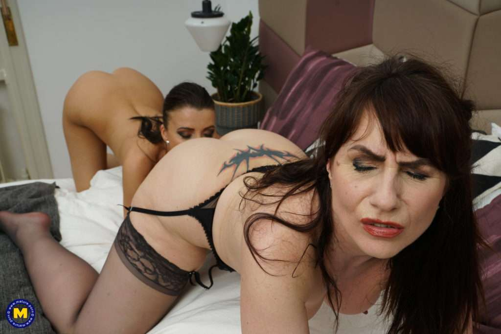 Naughty Lesbian Housewives Go All The Way At Mature.nl