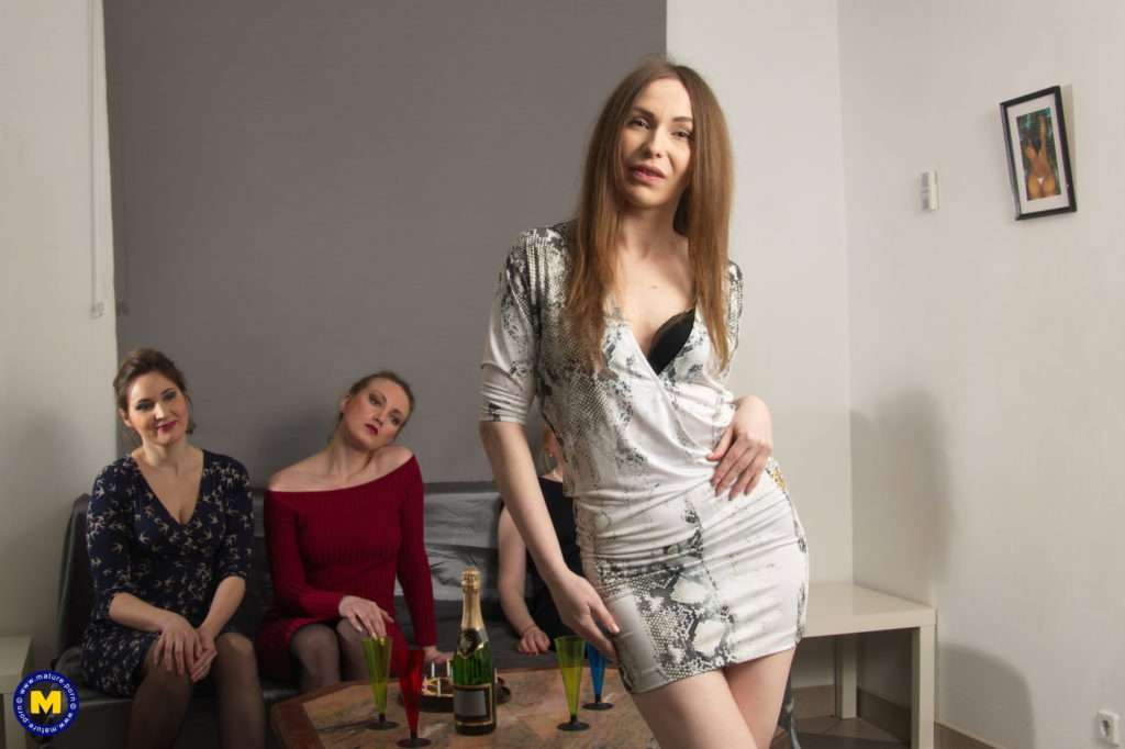 Four Naughty Housewives Getting Wet And Wild At Mature.nl