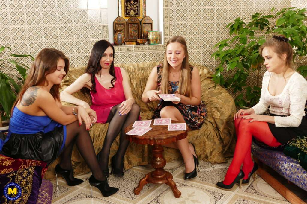 Two Naughty Aunts Show Their Nieces Their Dirty Lesbian Minds