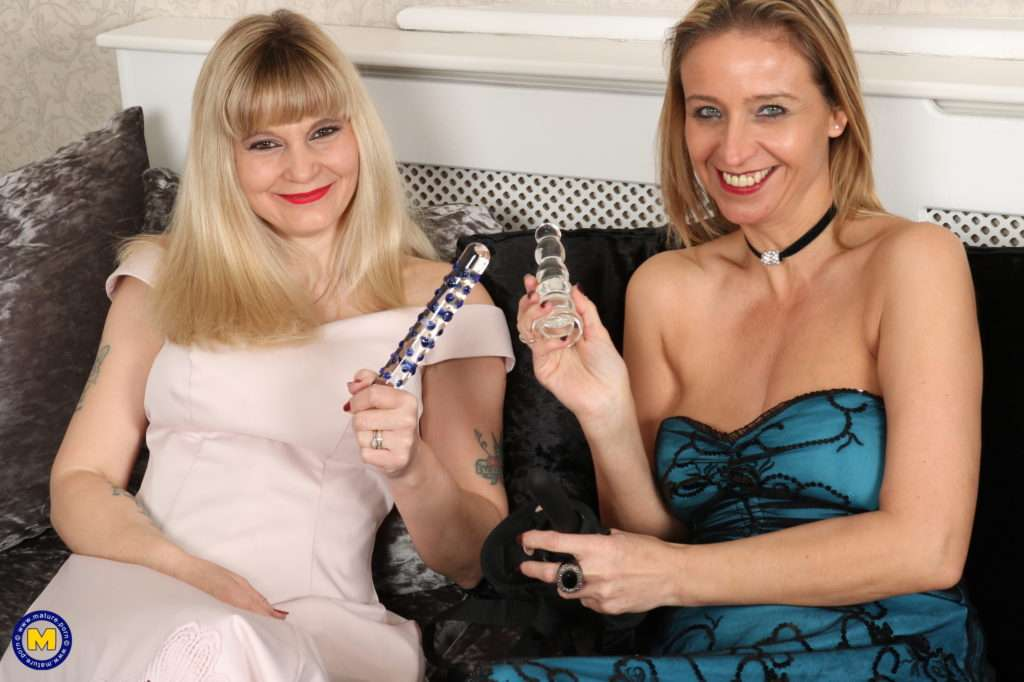Two Naughty English Housewives Playing With Their Pussies