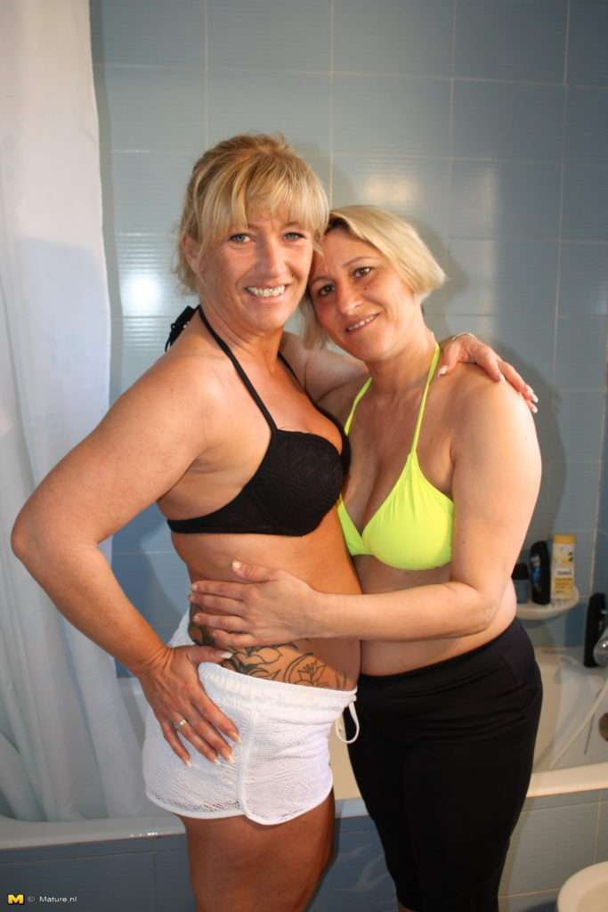 Two Horny German Nympho's Eating Pussy And Playing With Cock At Mature.nl