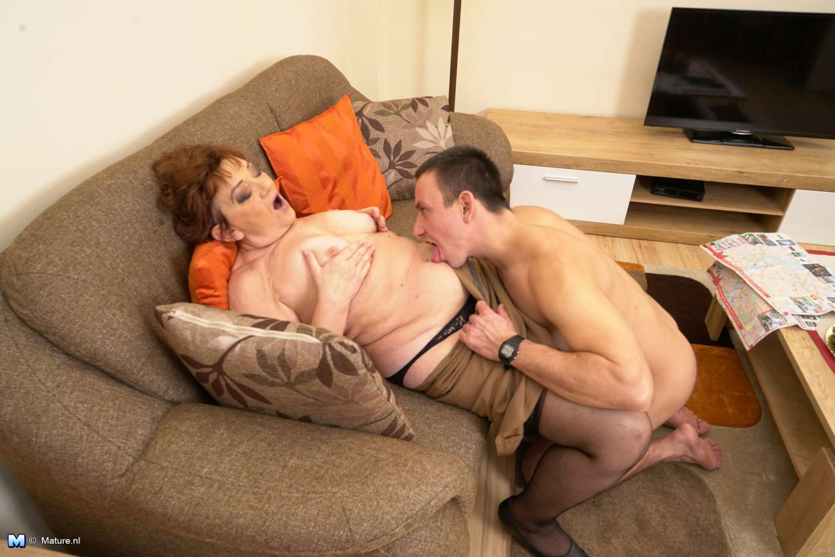 Robbie loves having hard sex with grannies and older horny women