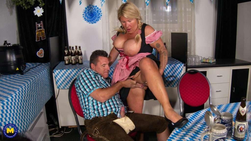 Big Breasted Waitress Fucking And Sucking At Oktoberfest