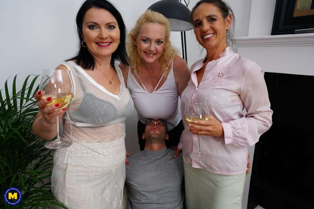 Three Horny Mature Sluts Share One Lucky Guy With A Hard Cock At Mature.nl