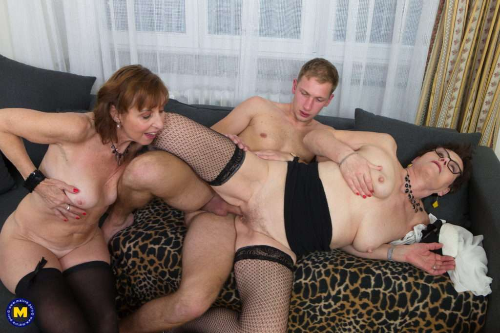 A Nughty Old And Young Threesome Is Getting Out Of Control