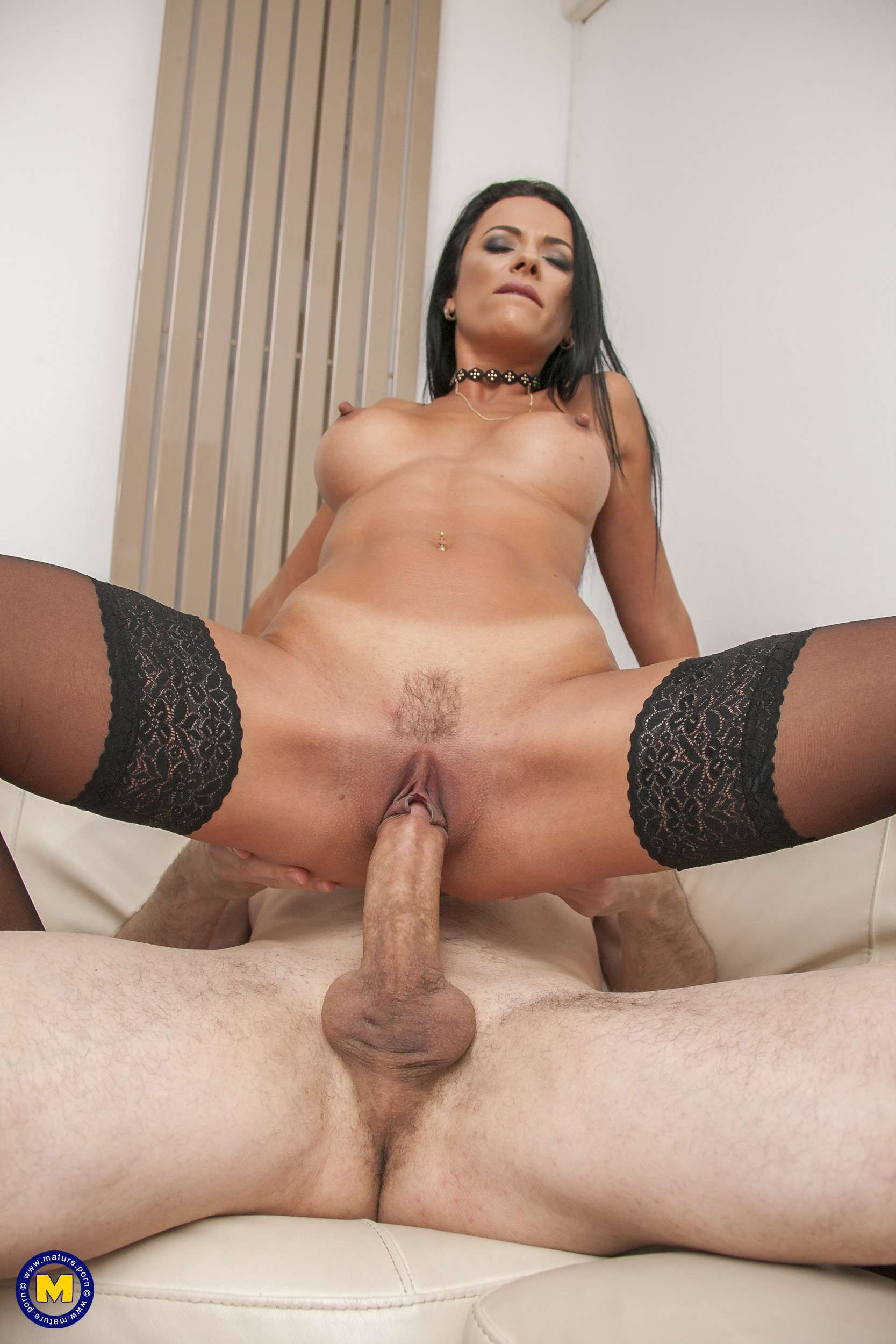 Hot steamy MILF Shalina Devine getting fucked by a big hard cock