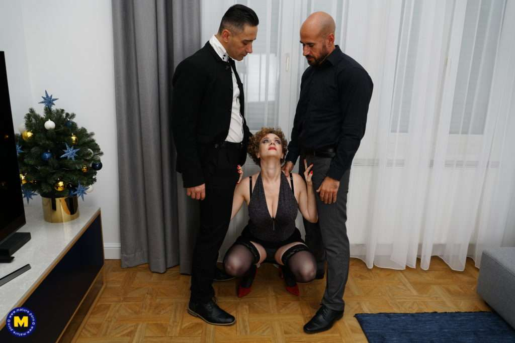 Naughty Mature Merce Having Sex With Two Guys At Once