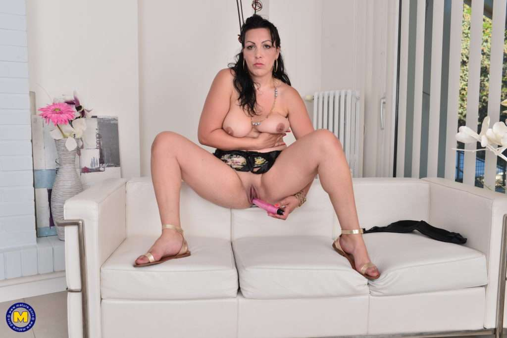 Naughty Mature Lady Playing With Her New Found Toy