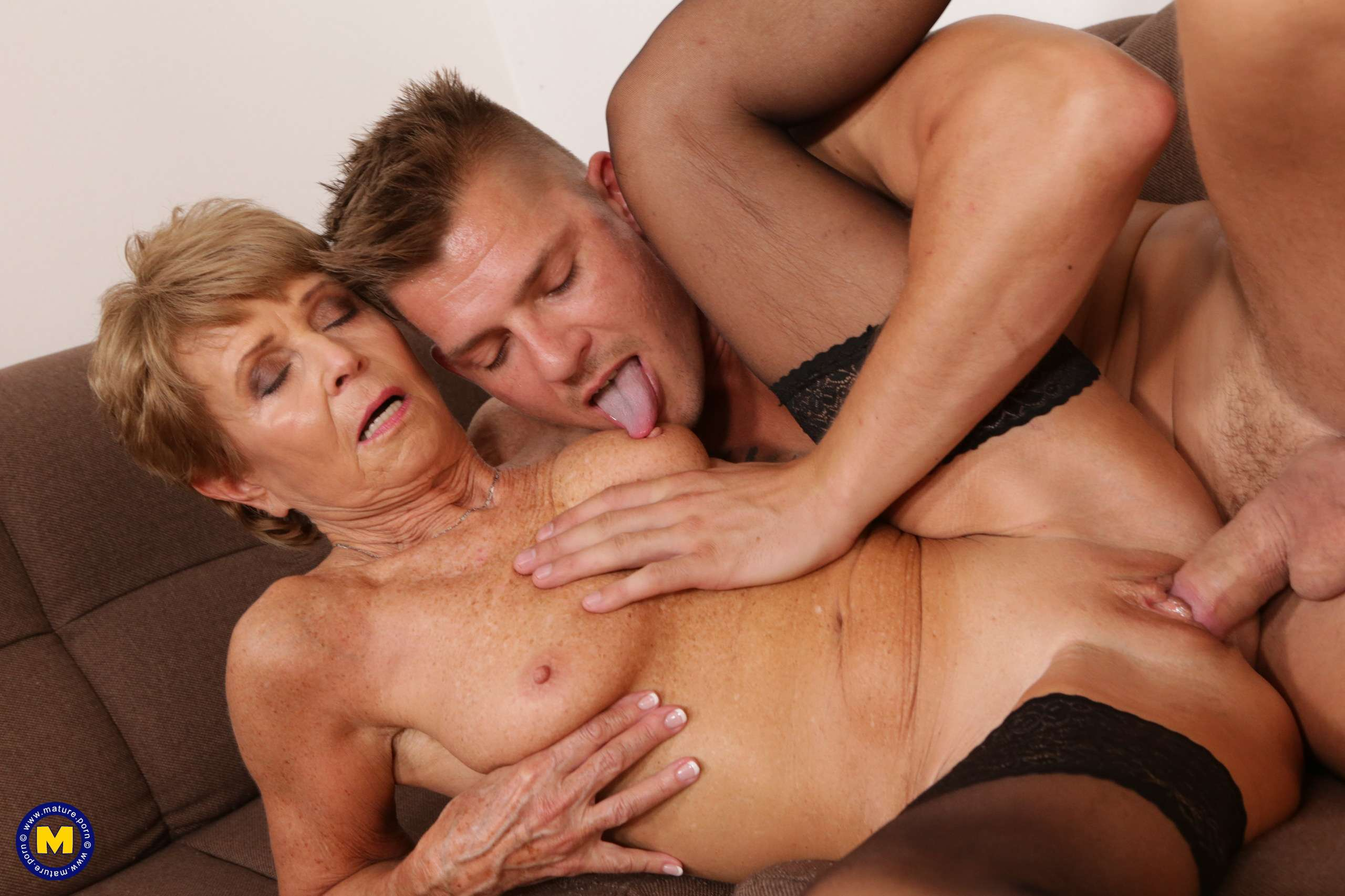 This naughty granny loves to get fucked by her toyboy