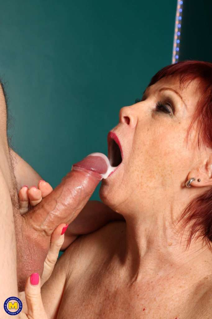 Horny Mature Slut Invites Her Younger Neighbor For Steamy Rough Sex