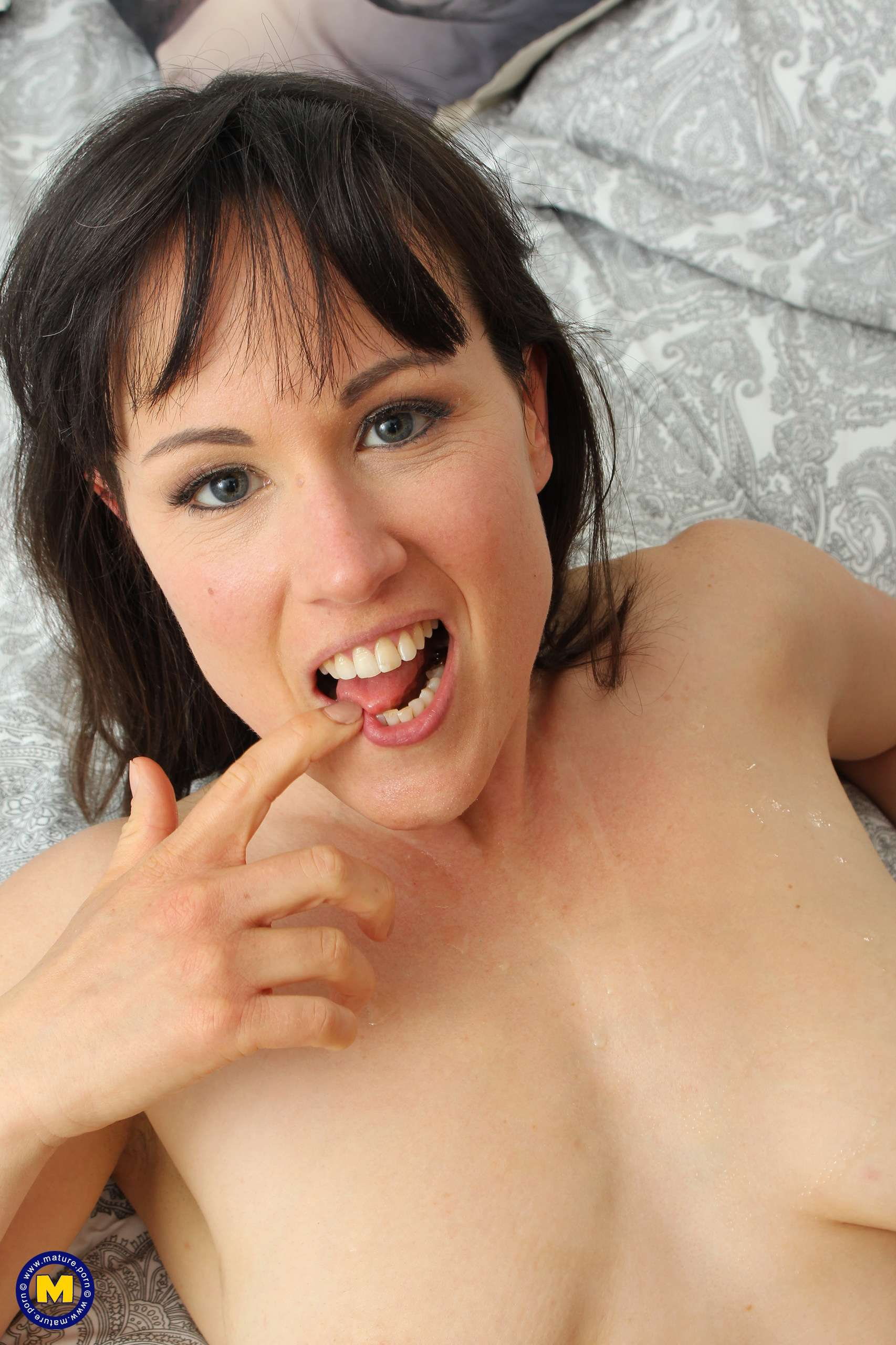 Large nipple mom sucking and fucking her lover