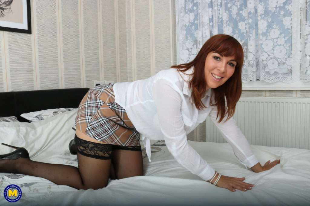 Naughty French Milf Angelique Luka Loves To Tease And Play With Herself