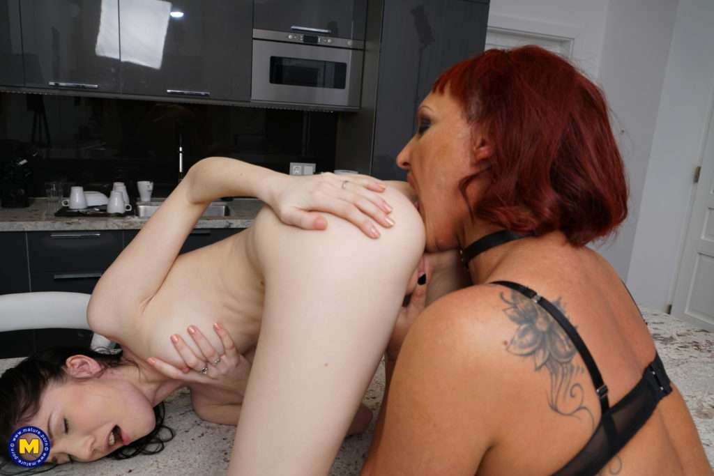 Ass And Pussy Eating Old And Young Lesbians Go At It