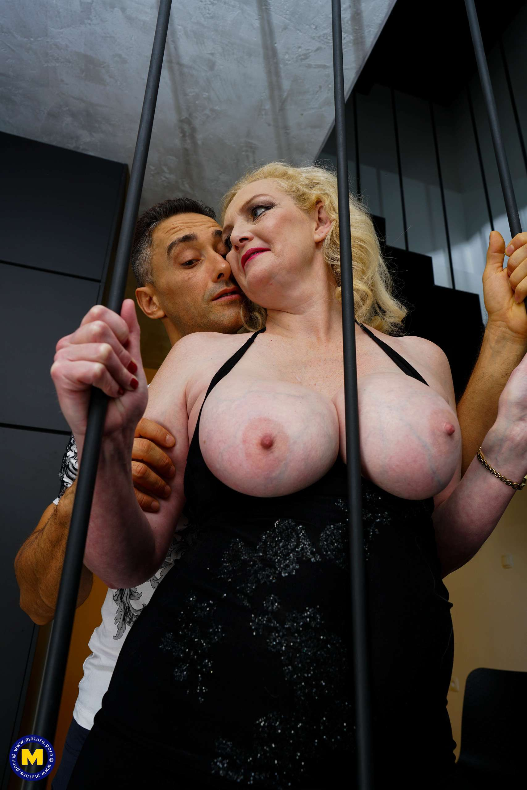 Big breasted MILF fucking and sucking her ass off