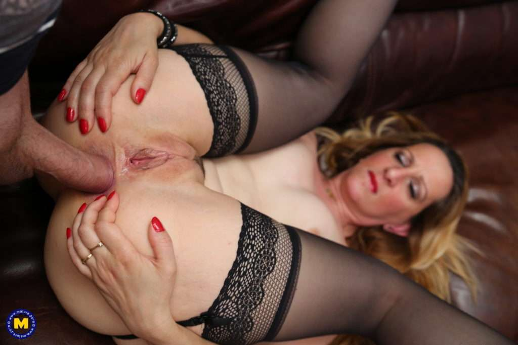 This Horny Mom Loves To Get Fucked Anally And By Two Guys